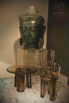 Buddha head ( Andrew Martin collection ) Murano glass vases by ARCADE - Paris  #buddha #muranoglass #arcade #living #furniture