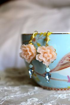Peach aqua and blue