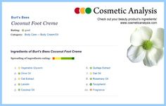 Healthy cosmetics do not necessarily need many artificial ingredients ...
