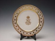 Antique French Sevres Porcelain Napoleon III Table Court Service Dinner Plate EX | eBay