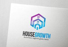 House Growth Logo by Slim Studio on Creative Market