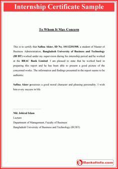 Internship acceptance letter sample letter pinterest internship certificate format altavistaventures Image collections