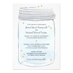 See MoreBlue Mason Jar & Fireflies Wedding Personalized AnnouncementsWe provide you all shopping site and all informations in our go to store link. You will see low prices on