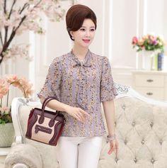 >> Click to Buy << 2017 Summer Floral Print Chiffon Blouse Women's Petal Short Sleeve Chiffon Tops Plus Size Shirts #Affiliate