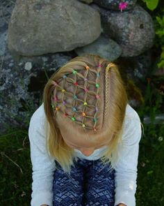 50 Hairstyles with Elastic Bands for Girls in 2018 Girly Hairstyles, Cute Hairstyles For Kids, Kids Braided Hairstyles, Little Girl Hairstyles, Pretty Hairstyles, Girl Hair Dos, Natural Hair Styles, Long Hair Styles, Kids Hair Styles