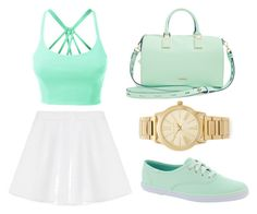 Untitled #38 by bri23-1 on Polyvore featuring polyvore fashion style LE3NO RED Valentino Keds Rebecca Minkoff Michael Kors clothing