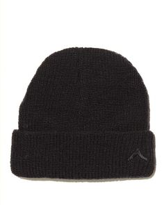Boot Camp Wool Hat - Black - Our signature wool beanie with tonal embroidered chevron logo. - 100% Wool. - Made in New York.