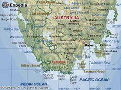 map of tasmania - Google Search