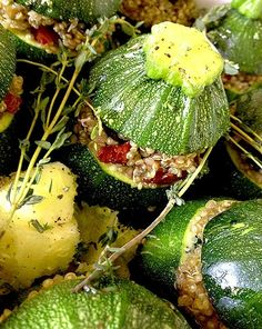 French recipe for Stuffed Round Courgettes