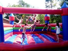 Jumping castle party in Brisbane. As much for for adults as they are for kids!