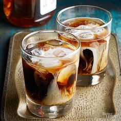Shake things up this Christmas with a frosty beer cocktail. This one's made with chocolate stout, chocolate syrup, and bourbon -- and has party written all over it.
