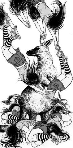 Yuko Shimizu - illustration for A Perfect Day for Kangaroos by Haruki Murakami