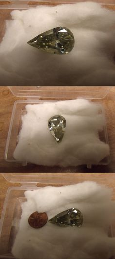 Lab-Created Diamonds 152823: Huge 38.50 Carat Off White Light Yellow Genuine Moissanite Vvs1 -> BUY IT NOW ONLY: $250 on eBay!
