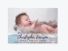 Baby Birth Announcement Photo Invitation PDF Template