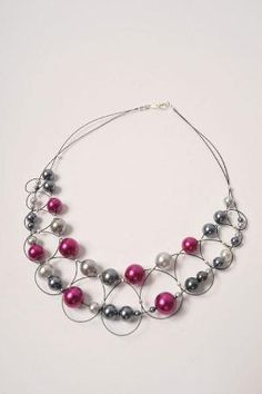 Wire & Pearl Necklace ∙ How To by Beads Unlimited on Cut Out + Keep by lorie