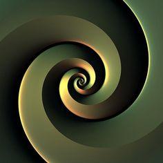 """""""Dark Spiral"""" 3-D fractal artwork by Lyle Hatch"""