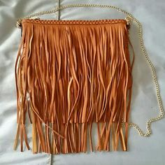 """Rose Fringe Faux Leather Convertible Bag Crossbody  Bag. Never Used. Size:  10 1/2"""" W ? 6 1/2""""H x 1/2""""D (interior capacity: small) *23 """" crossbody Strap Drop *0.7lbs *color: Cognac Sole Society Bags Crossbody Bags"""