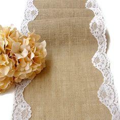 Burlap+table+runner+wedding+table+runner+rustic+by+HotCocoaDesign