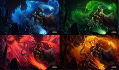 The four animals of Spirit Guard Udyr.