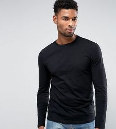 Browse online for the newest ASOS DESIGN Tall long sleeve t-shirt with crew neck in black styles. Shop easier with ASOS' multiple payments and return options (Ts&Cs apply). Mens Fitness, Asos, Crew Neck, Mens Fashion, Denim, Long Sleeve, Cotton, Mens Tops, T Shirt