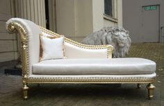Mahogany Federal Baroque Gold Leaf French Period Oyster Chaise Longue | eBay