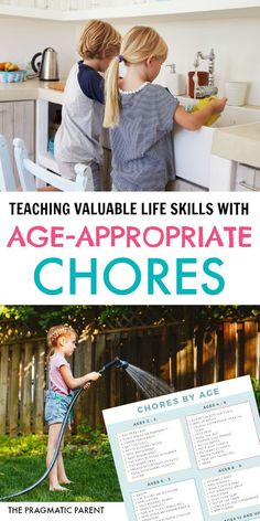 Age appropriate chores for kids teaches valuable life skills, responsibility, makes them feel capable & confident, and builds a strong work ethic. Gentle Parenting, Kids And Parenting, Parenting Hacks, Practical Parenting, Peaceful Parenting, Parenting Classes, Age Appropriate Chores For Kids, Happy Mom, Raising Kids