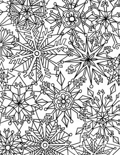 Alisaburke Snow Flake Coloring Page