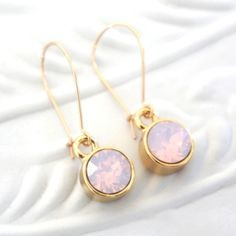 Swarovski Sparkle earrings/oorbellen - soft pink swarovski