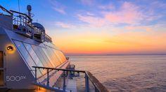Midsummer Sunrise - Sunrise over the ocean from a cruise ship