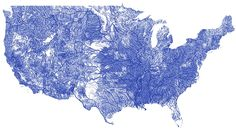 ALL the rivers in the US on a single, beautiful map.