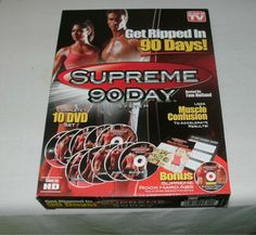Make your bids now on this Supreme 90 Day Workout System complete with 10 DVDs in high definition!