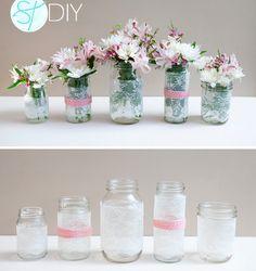 DIY: Lace center table decor