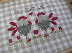 Tralala cross stitch chickens