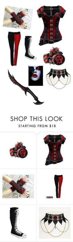"""""""My cp rp outfit"""" by miwscreatureofthenight ❤ liked on Polyvore featuring GAS Jeans and Converse"""