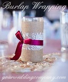 4-inch Burlap Fabric - Burlap is a perfect accent fabric for rustic or vintage-themed weddings. Burlap can be tied around mason jars and candles, or used as fabric to accent ring pillows, chair backs, pews and more.