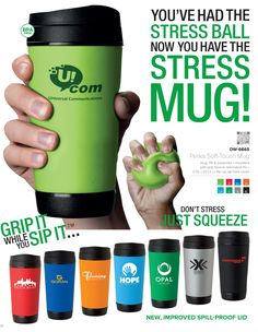 Soft Touch Travel Mug and Stress Ball, Unique Coffee Mugs South Africa