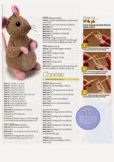 Alan Dart - Chalk and Cheese Crochet Mittens Pattern, Knitted Doll Patterns, Animal Knitting Patterns, Knitted Dolls, Crochet Toys, Loom Knitting, Baby Knitting, Knitting Toys, Simply Knitting