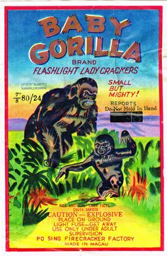 Baby Gorilla C4 80-24 Firecracker Brick Label | Flickr - Photo Sharing!