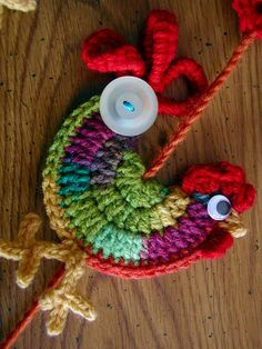love the crochet rooster!
