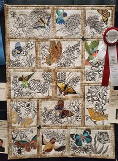 "I get so excited about my local guild's show-it's always fabulous! Enjoy a peek at this year's Folsom Quilt and Fiber Guild show: Best of Show, Inger Blood: ""A Taste of Tie&…"