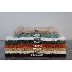 A luxurious cotton bath rug will feel great when you step out of the shower. The rug has a soft, cottony feel and features a nonslip coating. The rug measures 30 x 50. Available in paprika, wheat, moss, chocolate, oat, aqua, ivory, and white.