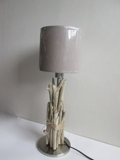 Lampe bois flotté moyen modèle - esprit nature : Luminaires par maskott                                                                                                                                                     Plus