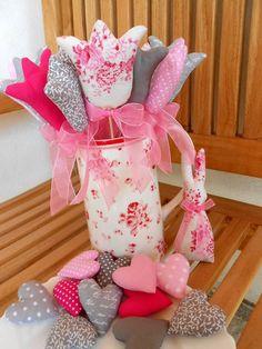 Dekorácie - Pink and grey SPRING, dekoračná sada - 7905861_