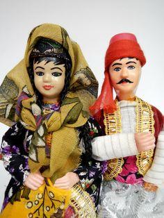 Turkey Dolls Pair Ottoman Dress