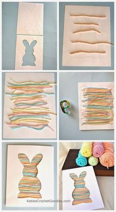 22 do it yourself easter craft ideas easter crafts easter and easy easter craft for toddlers bunny silhouette yarn craft katies crochet goodies solutioingenieria Gallery