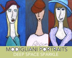 Kids use a simple drawing technique that results in these stunning Modigliani chalk portraits. One of my favorite art lessons.