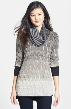 NIC+ZOE Ombré Texture Cowl Neck Sweater (Regular & Petite) available at #Nordstrom
