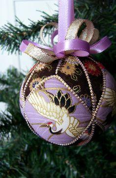 Kimekomi ball with japanese fabrics
