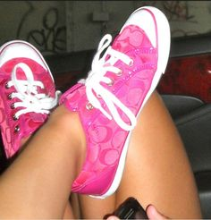 All pink coach shoes !
