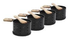 Appareil à raclette à la bougie 4 personnes 50 € Wooden Spatula, Cardboard Gift Boxes, A Table, Tea Lights, Tableware, Amazon Fr, Electric, Simple, Modern